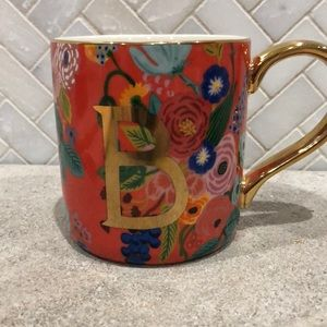 Monogrammed mug with letter B. New with tags.
